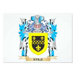 Stile Coat of Arms - Family Crest 5x7 Paper Invitation Card