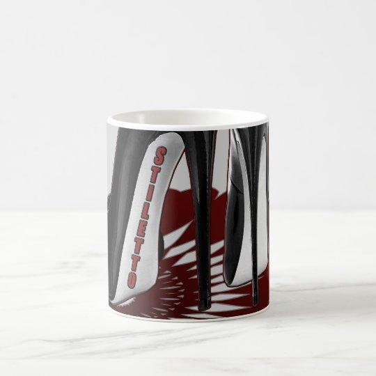 Stiletto Art - Black and Maroon Coffee Mug