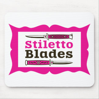Stiletto Blades in frame Mouse Pad