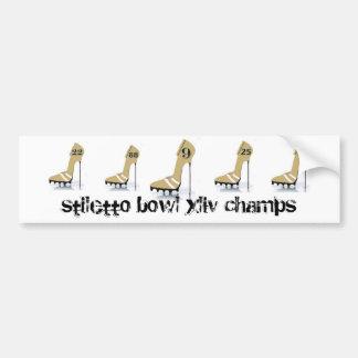 stiletto bowl xliv championship bumper sticker car bumper sticker