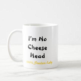 "Stiletto Bowl XLV Steeler Lady ""i'm No Cheese head Classic White Coffee Mug"