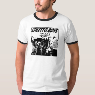 Stiletto Boys - 8-Track (front) - T-SHIRT