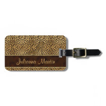 Stiletto Cheetah Print for the Lady Traveler Bag Tag