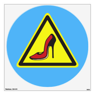 Stiletto Hazard Wall Sticker