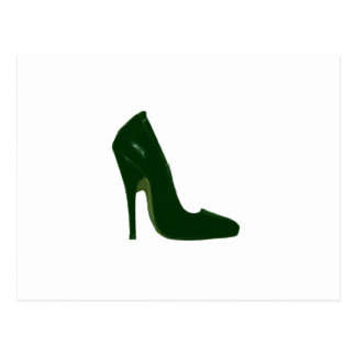 Stiletto Heel Right Side Green d The MUSEUM Zazzle Postcard