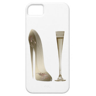 Stiletto High Heel Shoe Art and Champagne Gifts iPhone 5 Cover
