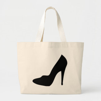 stiletto high heeled shoe icon canvas bags