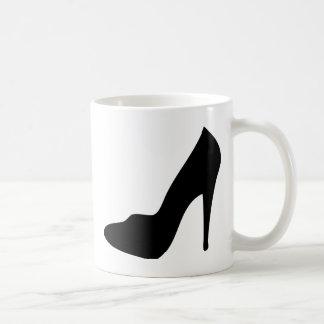stiletto high heeled shoe icon coffee mugs