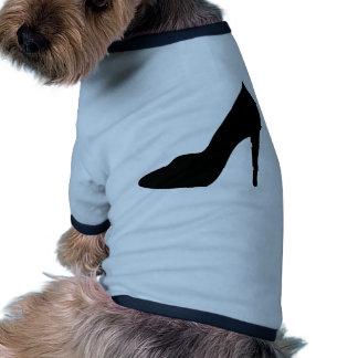 stiletto high heeled shoe icon dog shirt