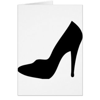 stiletto high heeled shoe icon greeting card