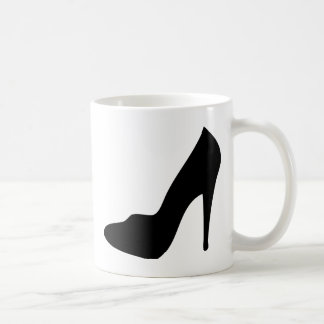 stiletto high heeled shoe icon classic white coffee mug