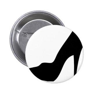 stiletto high heeled shoe icon pin