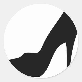 stiletto high heeled shoe icon round stickers