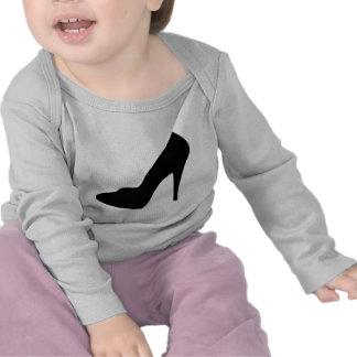 stiletto high heeled shoe icon tee shirt