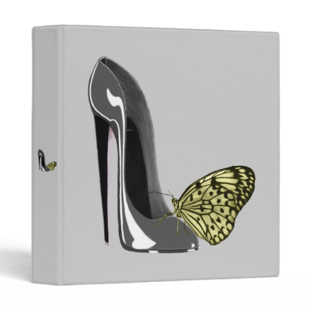 Stiletto Shoe and Butterfly Binder