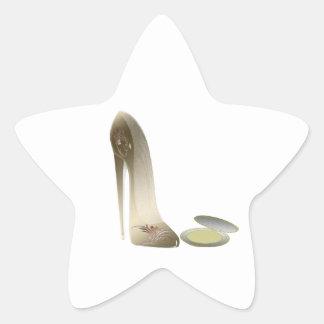 Stiletto Shoe and Compact Art Star Sticker