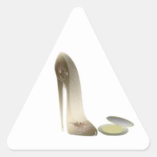 Stiletto Shoe and Compact Art Triangle Sticker