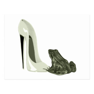 Stiletto Shoe and Frog Art Gifts Postcard