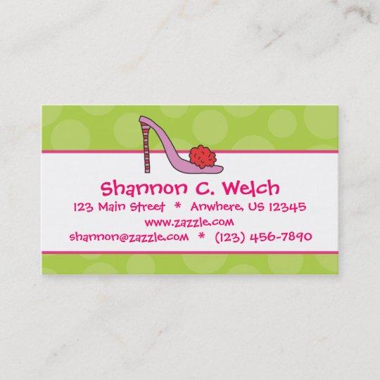 Stiletto Shoe Polka Dot Business Calling Cards Zazzle