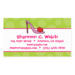 Stiletto Shoe Polka Dot Business Calling Cards Double-Sided Standard Business Cards (Pack Of 100)