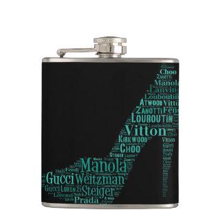 Stiletto Word Art Teal Flask