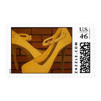 stilettos - potage postage stamps