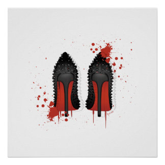 Stilettos spatters & drips poster