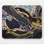 stilized guitar music song mousepad
