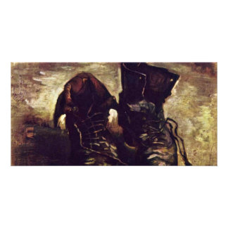 Still A Pair Of Shoes By Vincent Van Gogh Card