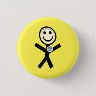 Still Aye Smiley Independence Badge Button
