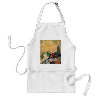 Still-Bottle Of Rum By Paul Cézanne (Best Quality) Adult Apron