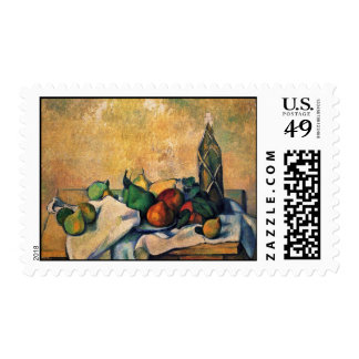 Still-Bottle Of Rum By Paul Cézanne (Best Quality) Stamps