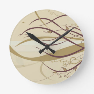 Still Branches of Life Round Clock
