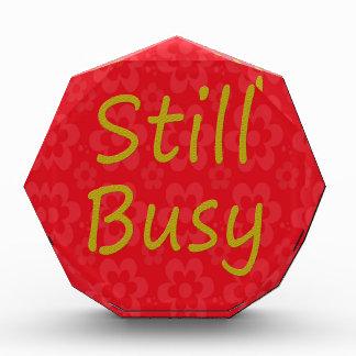 Still Busy Bright Red Award
