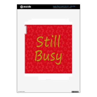 Still Busy Bright Red iPad 3 Skin
