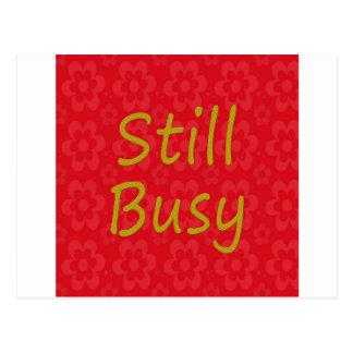 Still Busy Bright Red Postcard