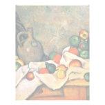 Still Drapery Jug And Fruit Bowl By Paul Cézanne Letterhead Design