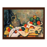 Still Drapery Jug And Fruit Bowl By Paul Cézanne Post Cards