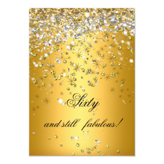 Still Fabulous 60 Gold Silver Streamers Birthday Card