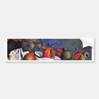 Still Ginger Jar By Paul Cézanne (Best Quality) Car Bumper Sticker