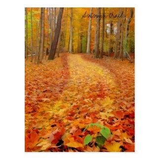 Still green, Autumn trails Postcard