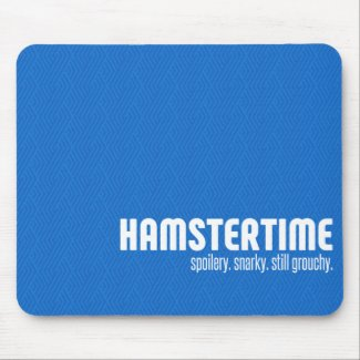 Still Grouchy Mousepad Blue Horizontal