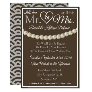 """Still Her Mr & His Mrs"" Vow Renewal Invitation"