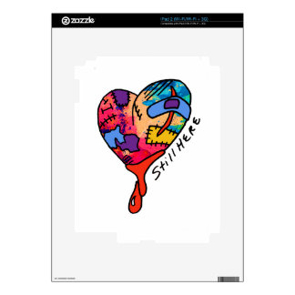 Still Here Patchwork Heart of Many Colors iPad 2 Decal