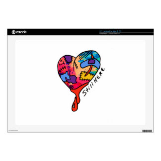 Still Here Patchwork Heart of Many Colors Laptop Skin