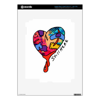 Still Here Patchwork Heart of Many Colors Skins For iPad 3