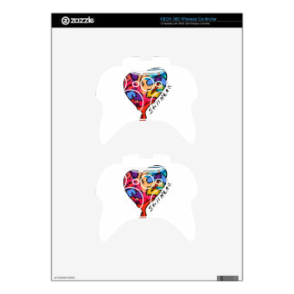 Still Here Patchwork Heart of Many Colors Xbox 360 Controller Skins