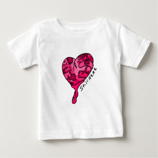 Still Here Pink Patchwork Heart Baby T-Shirt