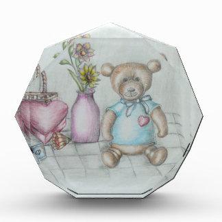 still ife hearts nad teddy bear acrylic award