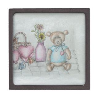 still ife hearts nad teddy bear keepsake box